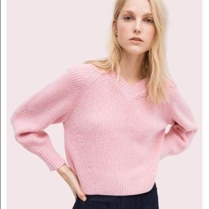 Kate Spade Color POP V-Neck Sweater NWT M